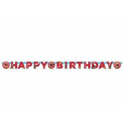 Banner Feuerwehrmann Sam Happy Birthday 1,80m