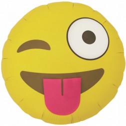 Folienballon Emoji winking 46cm