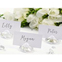 Diamond Tisch Platzhalter transparent 10 Stück