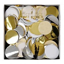 Party Konfetti Gold weiß