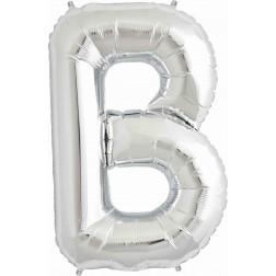Folienballon Buchstabe B silber 86cm