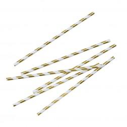 Strohhalme Gold Metallic 25 Stück