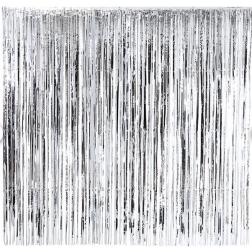 Lametta Vorhang Silber 2 x 2m