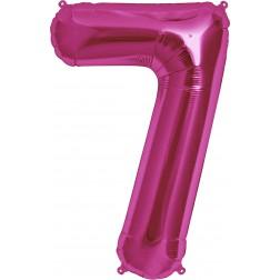 Air Folienballon Zahl 7 magenta 41cm