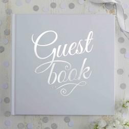 Gästebuch Metallic Perfection silver white