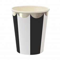 Pappbecher Black Stripe 8 Stück