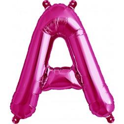 Air Folienballon Buchstabe A magenta 41cm