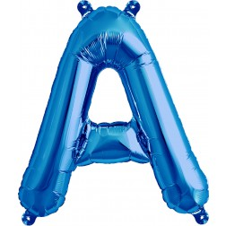 Air Folienballon Buchstabe A blau 41cm