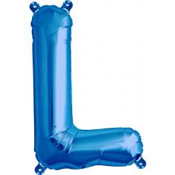 Air Folienballon Buchstabe L blau 41cm