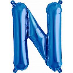 Air Folienballon Buchstabe N blau 41cm
