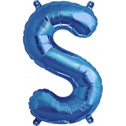 Air Folienballon Buchstabe S blau 41cm