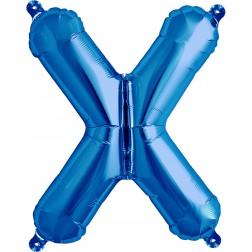 Air Folienballon Buchstabe X blau 41cm