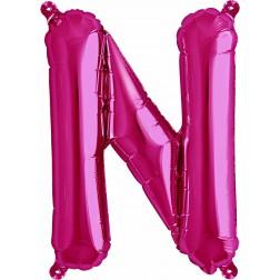 Air Folienballon Buchstabe N magenta 41cm