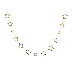 Glitter Star Girlande gold 42 Sterne