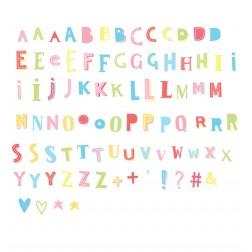 Lightbox 85 Letters & Symbols Set Funky colour