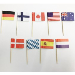 Flaggen Picks International 30 Stück