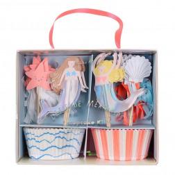 Cupcake Kit Meerjungfrau Let be Mermaids 48 teilig