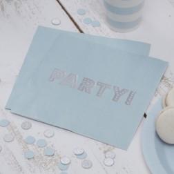 Servietten Pastel Perfection Party blau 20 Stück