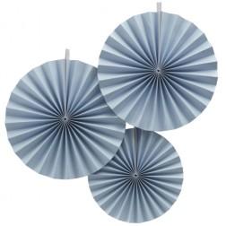 Rosetten Pastel Perfection blau 3 Stück