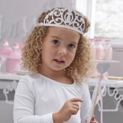 Princess Party Kronen silber 5 Stück