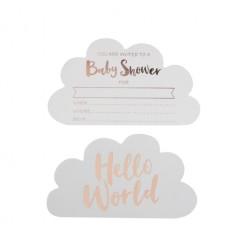 Hello World Einladungskarte 10 Stück