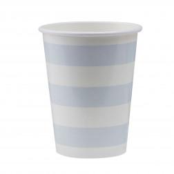 Pappbecher Pastel Perfection blau 8 Stück