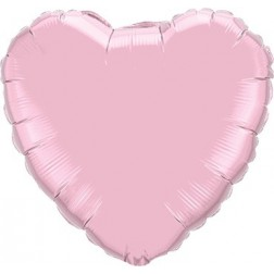 Folienballon Herz Jumbo Pearl Pink 90cm