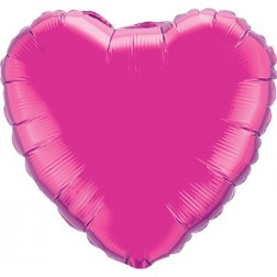 Folienballon Herz Jumbo Fuchsia 90cm