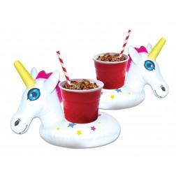 Schwimmringe für Getränke Unicorn 2 Stück