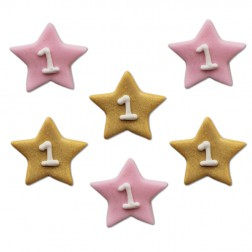 Zuckerdekor One Star Girl 6 STück