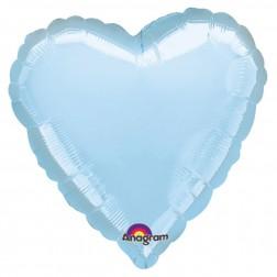 Herz Folienballon Caribbian blau 43cm