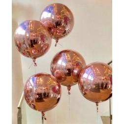 Folienballoon Orbz Rosegold 38 x 40cm