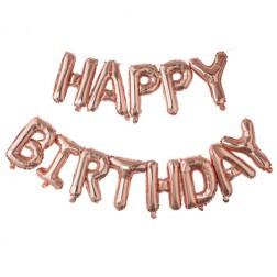 Air Folienballon Happy Birthday rosegold