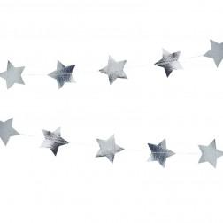 Girlande Sterne silber 5m