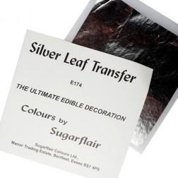Silbernes Blatt 9,5 x 9,5cm