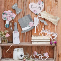 Photo Booth Props Rustic Country 10 Stück