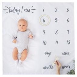 Baby Milestone Blanket Keepsake - Oh Baby