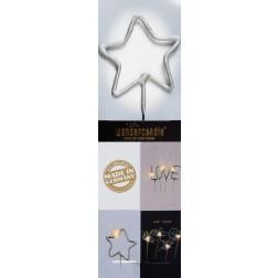 Wunderkerze Stern silber