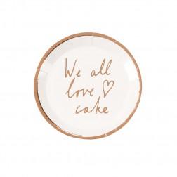 Pappteller Canape Love Cake 12 Stück