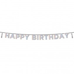 Happy Birthday Banner Iridescent 3,5m