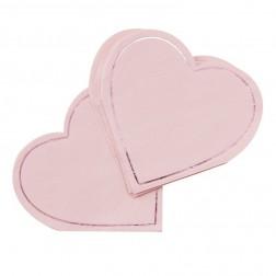 Servietten Herz rosa 16 Stück