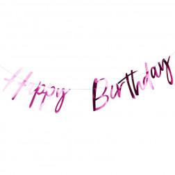 Happy Birthday Girlande Hot Pink 1,5m