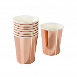 Pappbecher Party Porcelain Rosegold 8 Stück