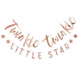 Girlande Twinkle Twinkle little Star Roségold