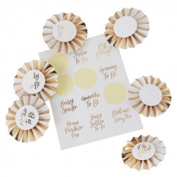 Baby Shower Badge Kit Oh Baby! gold
