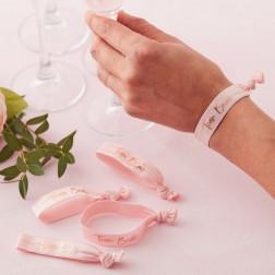 Team Bride Wrist Bands Floral Hen Party 5 Stück