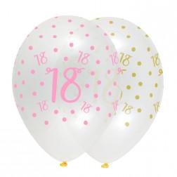 Luftballons 18. Geburtstag Pink Chic 6 Stück