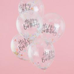 Luftballons Konfetti Pastel 5 Stück