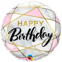 Folienballon Marble Birthday 45cm