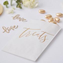 Papier Tüten Treats gold 20 Stück